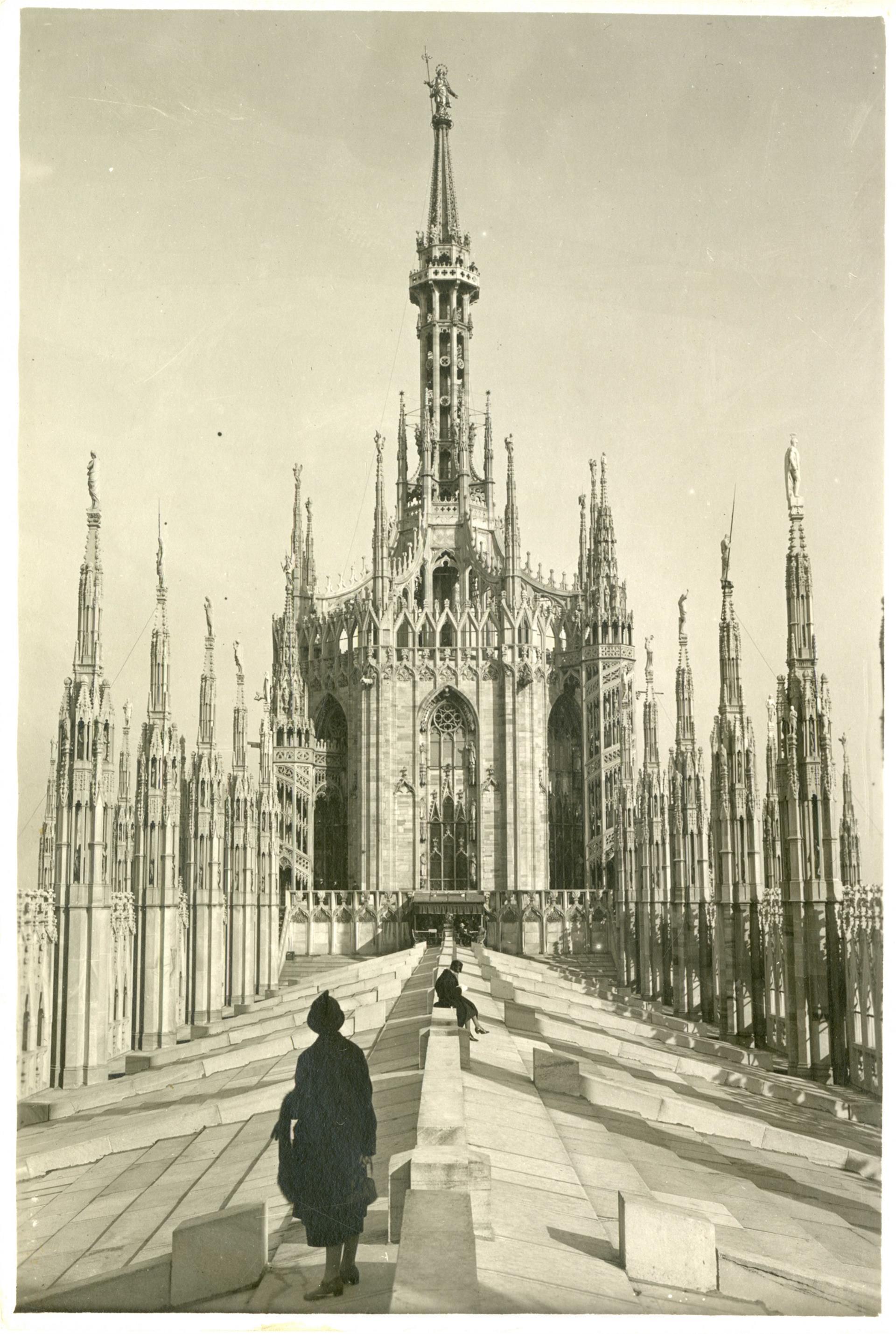 04 Veduta Della Terrazza Centrale Del Duomo Di Milano, 1925 Ca © Veneranda Fabbrica Del Duomo Di Milano