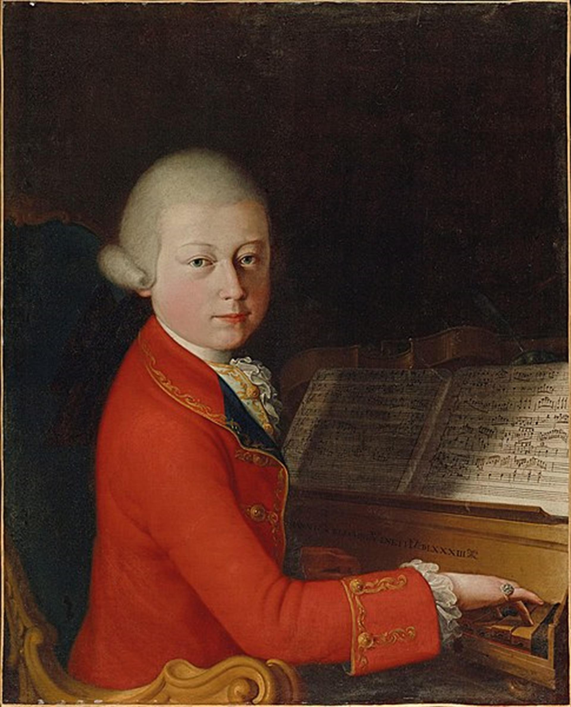 Portrait Of Wolfgang Amadeus Mozart At The Age Of 13 In Verona, 1770
