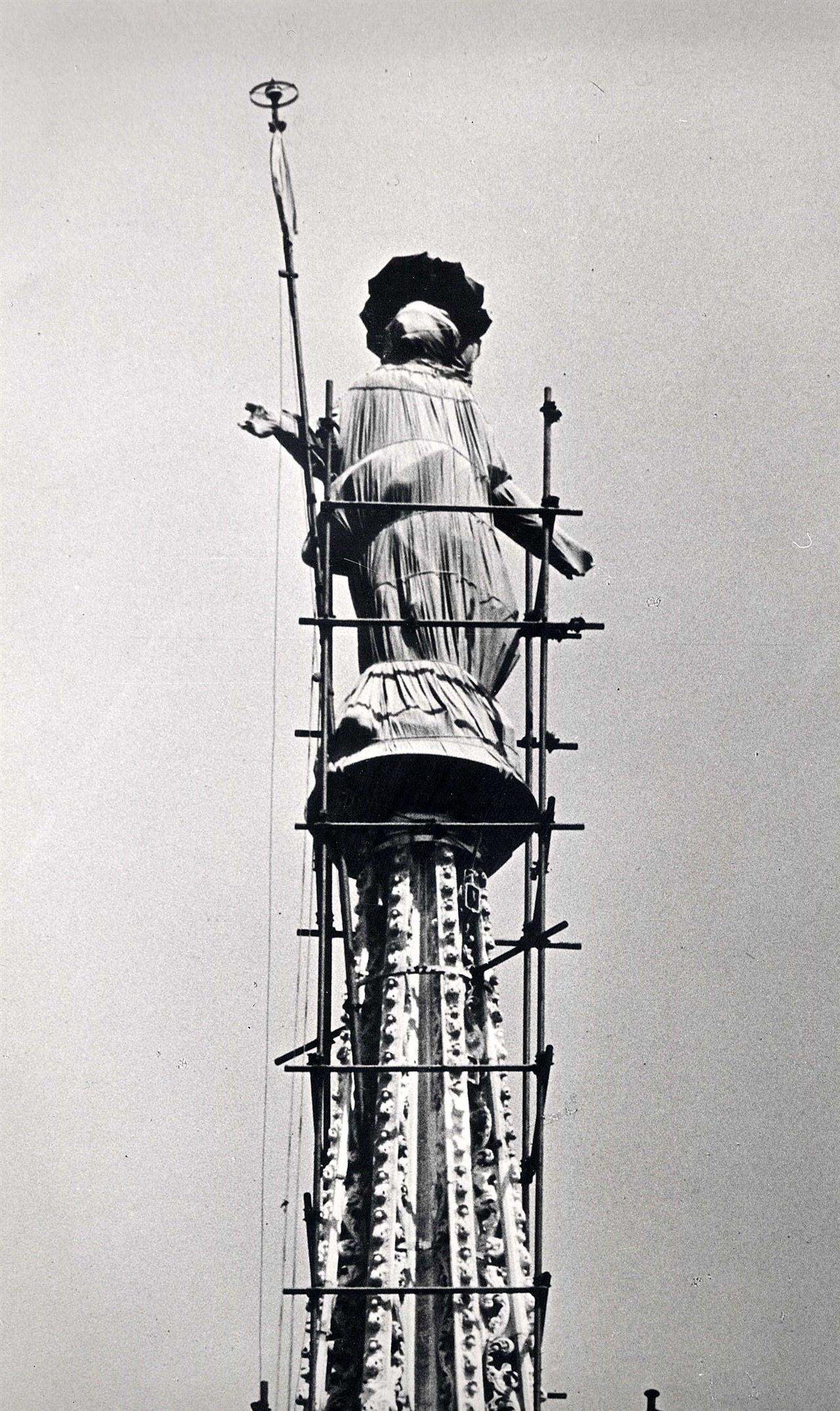 MADONNINA COPERTA PER INCURSIONI AEREE 21 6 1940 FV