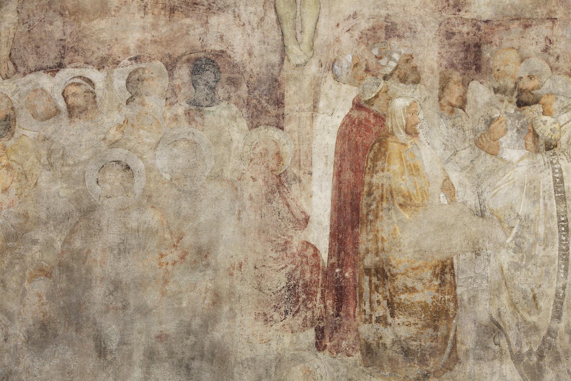 Copyright MASSIMO ZINGARDI La Crocifissione Affresco Di Scuola Giottesca
