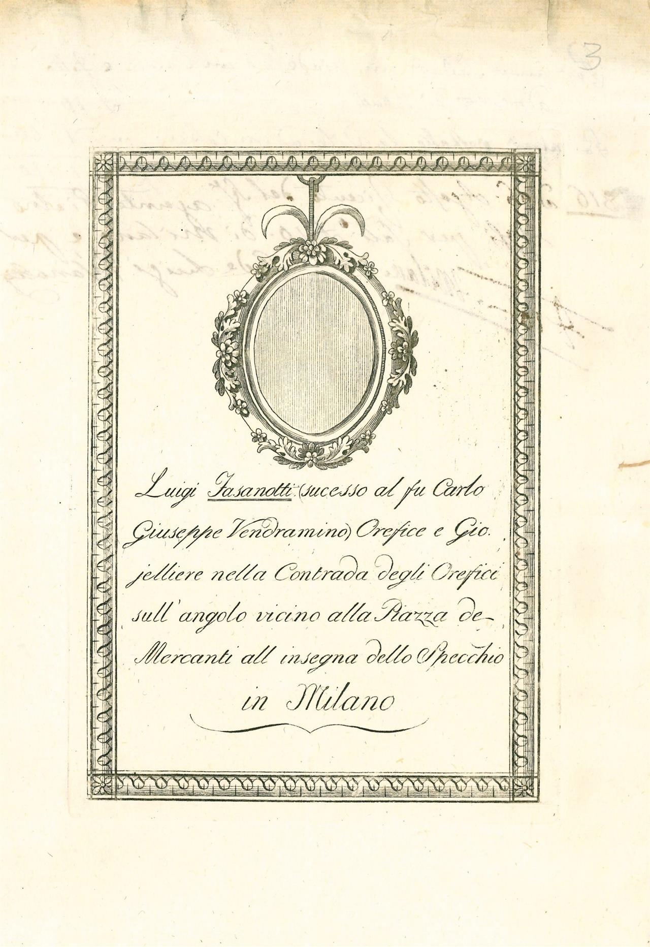 Volantini botteghe orafe - Archivio